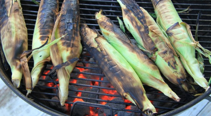 Grilled Corn on the Cob on the Gulf Coast