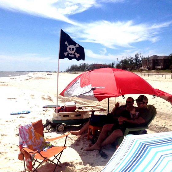 Family Day At The Beach In Mississippi